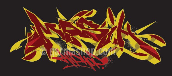 Malique x Asmoe Roc - Masih Hip Hop - Red & Yellow Graffiti (TS015)