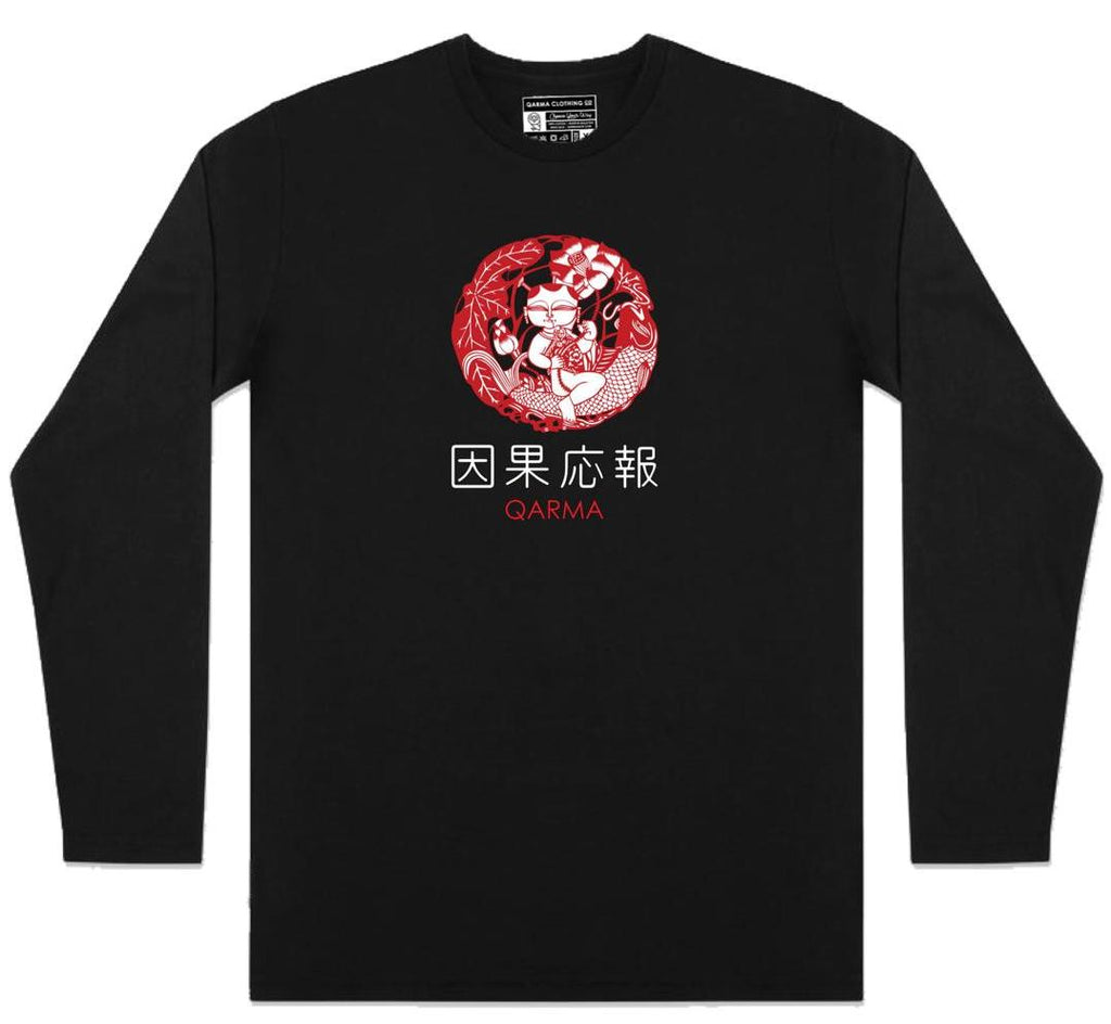 Ikan Koi - Long Sleeve - Black (TS061)