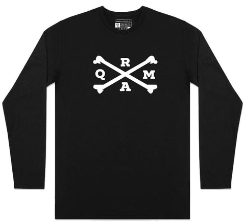 Qarma Crossbones - Long Sleeve - Black (TS063)