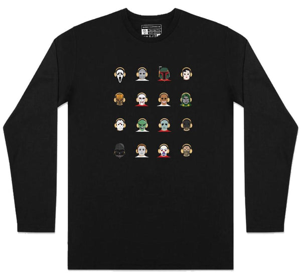 Malique TKO - 16 Heads - Long Sleeve - Black (TS071)