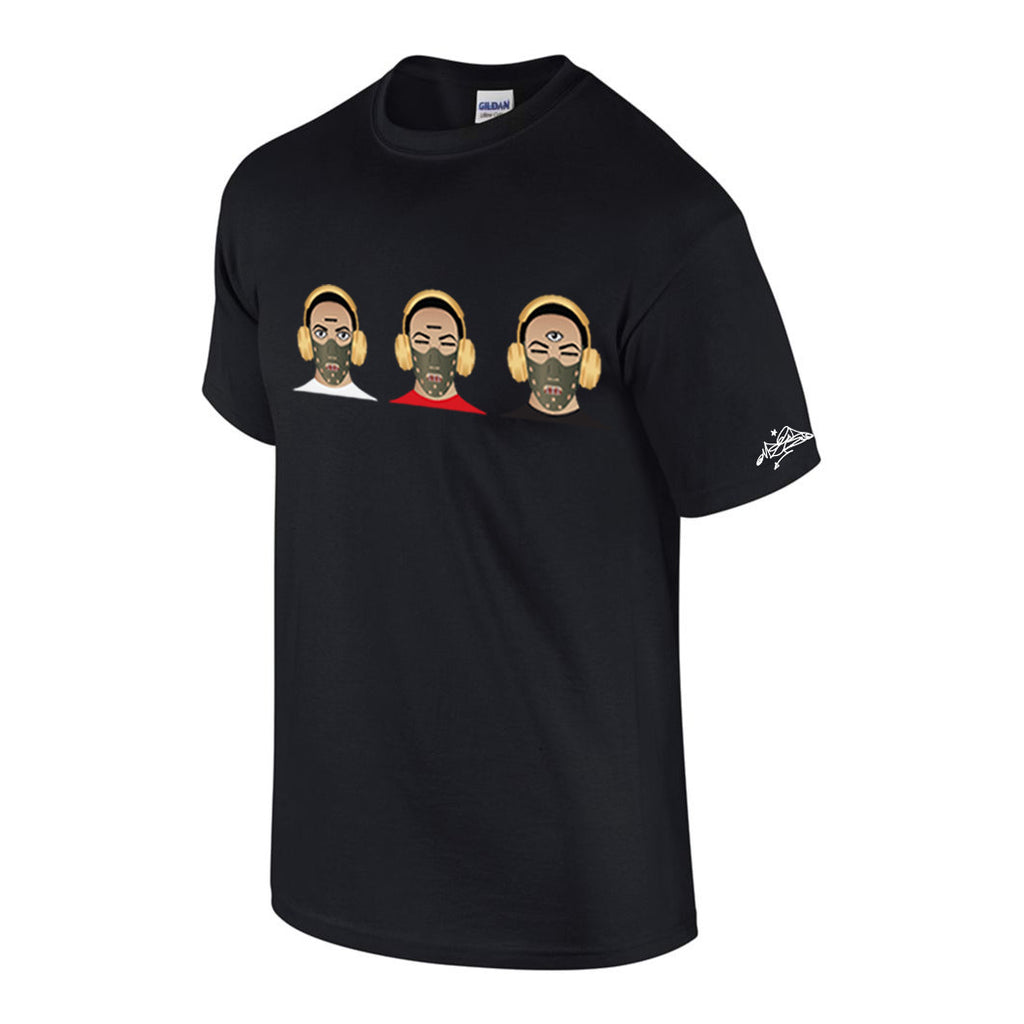 TKO T-Shirt - Three Heads/Black Shirt (PRE-ORDER)