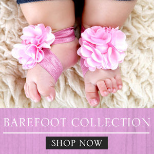 Baby Shoes, Baby Headband, Baby Girl Shoes, Baby Barefoot, Baby Girl Barefoot, Philippines