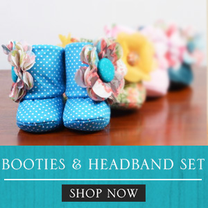 BOOTIES AND HEADBAND SET FOR NEWBORN, INFANT BABIES AND TODDLERS, Philippines