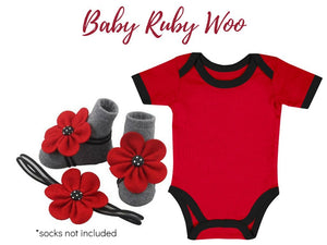 Buy 1 Take 1 Promo- Baby Onesie with Barefoot & Headband 3-9 months - ZuriBabyCouture, baby fashion, baby shoes, infant fashion