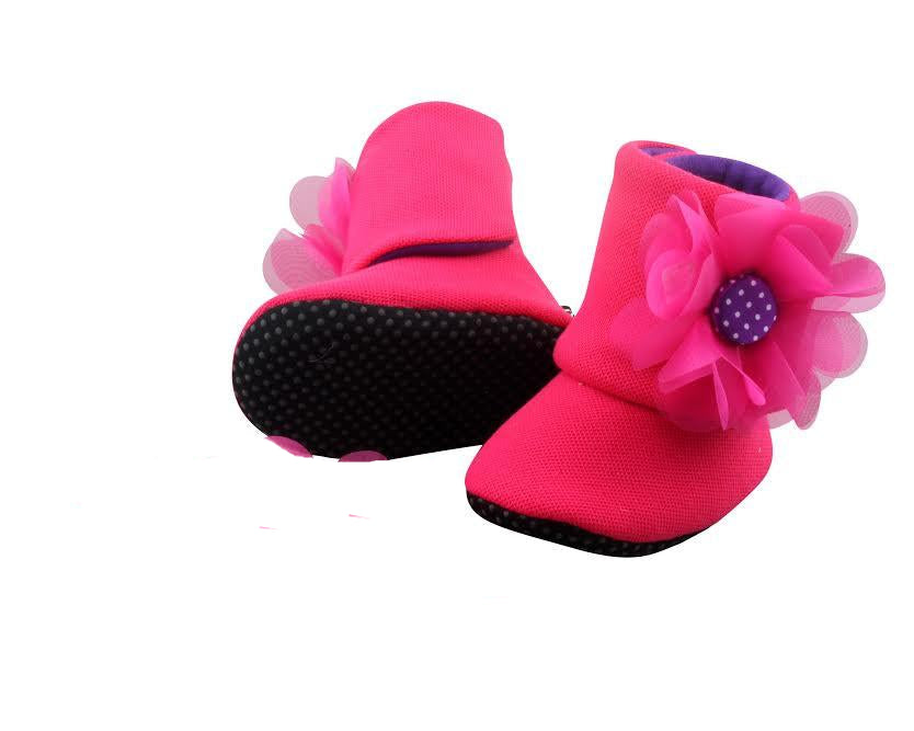 1c53788d29983 Hot Pink Merliah Baby Girl Booties 18-24 months