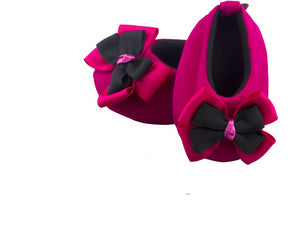 Fuchsia Pink Blossom Ballerina Shoes 3-9 months - ZuriBabyCouture, baby fashion, baby shoes, infant fashion
