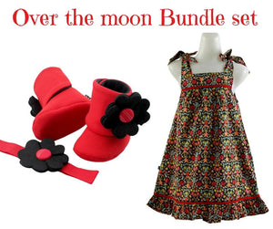 Summer #ootd Dress & Booties Set for toddlers 9-18 months - ZuriBabyCouture, baby fashion, baby shoes, infant fashion