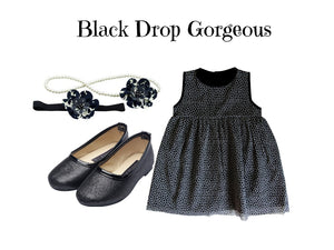 Kids Star Dress Set for 2-3 yrs old: Black Drop Gorgeous - ZuriBabyCouture, baby fashion, baby shoes, infant fashion