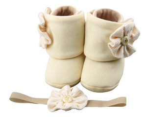 Baby Girl Booties Set: My twin Mimmy - ZuriBabyCouture, baby fashion, baby shoes, infant fashion