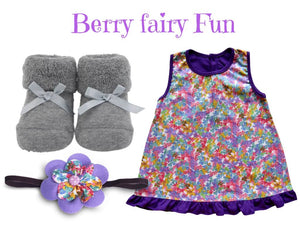 Dress w/ baby socks & matching headband for 0-6 months - ZuriBabyCouture, baby fashion, baby shoes, infant fashion
