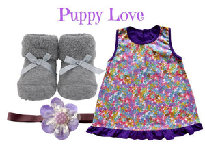 Dress with Baby Socks & Matching Headband for 0-6 months - ZuriBabyCouture, baby fashion, baby shoes, infant fashion