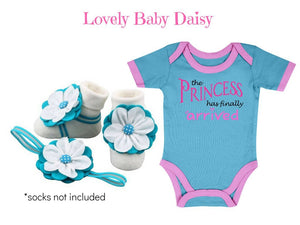 3-9 months Baby Girl Onesie, Barefoot Sandal & Headband Set - ZuriBabyCouture, baby fashion, baby shoes, infant fashion