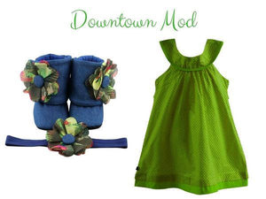 Sundress with Booties set : 9-18 months - ZuriBabyCouture, baby fashion, baby shoes, infant fashion