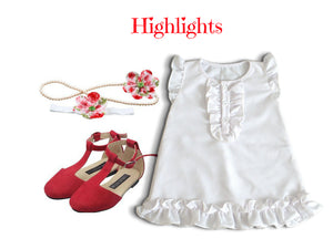 Crepe Dress Set for 18-24 months - ZuriBabyCouture, baby fashion, baby shoes, infant fashion