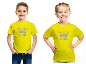 Kids Unisex T-Shirt : Worth the wait - ZuriBabyCouture, baby fashion, baby shoes, infant fashion