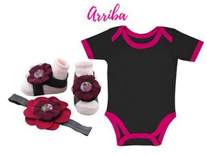 Buy 1 Take 1 Promo- Baby Onesie with Barefoot & Headband 9-18 months - ZuriBabyCouture, baby fashion, baby shoes, infant fashion