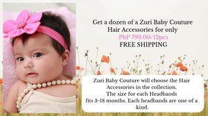Hair Accessories by the dozen - ZuriBabyCouture, baby fashion, baby shoes, infant fashion