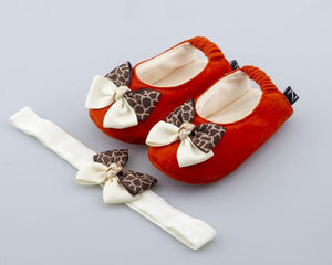 Sexy Safari Ballerina Shoes and Headband Set - ZuriBabyCouture, baby fashion, baby shoes, infant fashion