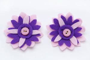 Baby Girl Hair Accessories for newborn, infant and toddlers: Pink & Purple floral - ZuriBabyCouture, baby fashion, baby shoes, infant fashion