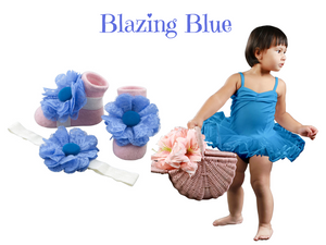 Tutu w/ Barefoot Sandals for 3-18 months - ZuriBabyCouture, baby fashion, baby shoes, infant fashion