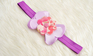 Baby Girl Hair Accessories for newborn, infant and toddlers: Pansies Headband - ZuriBabyCouture, baby fashion, baby shoes, infant fashion