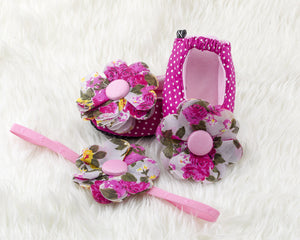 Princess Isabella Ballerina Shoes and Headband Set - ZuriBabyCouture, baby fashion, baby shoes, infant fashion