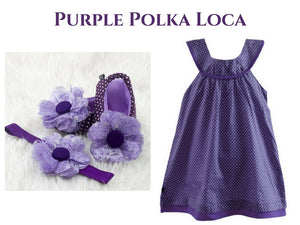 Purple Polca-Loca - ZuriBabyCouture, baby fashion, baby shoes, infant fashion