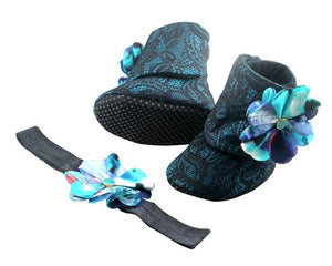 Let Me Bayou a Drink Baby Girl Booties and Headband Set - ZuriBabyCouture, baby fashion, baby shoes, infant fashion