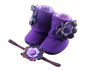 Show us your tricks! Baby Girl Booties and Headband Set - ZuriBabyCouture, baby fashion, baby shoes, infant fashion