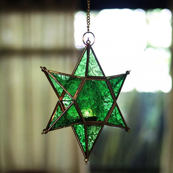 Green Star Hanging Lantern