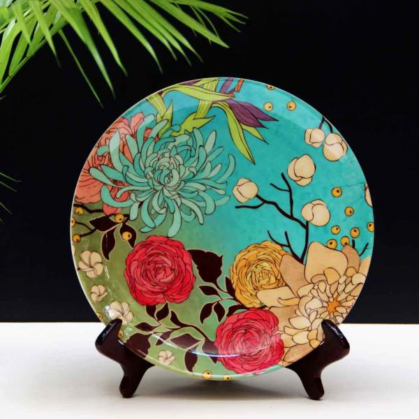 Chrysanthemum Forest Wall Plate
