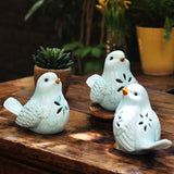 Blue Ceramic Bird Set of 3