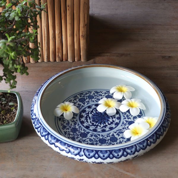 Blue & White Porcelain Bowl XL
