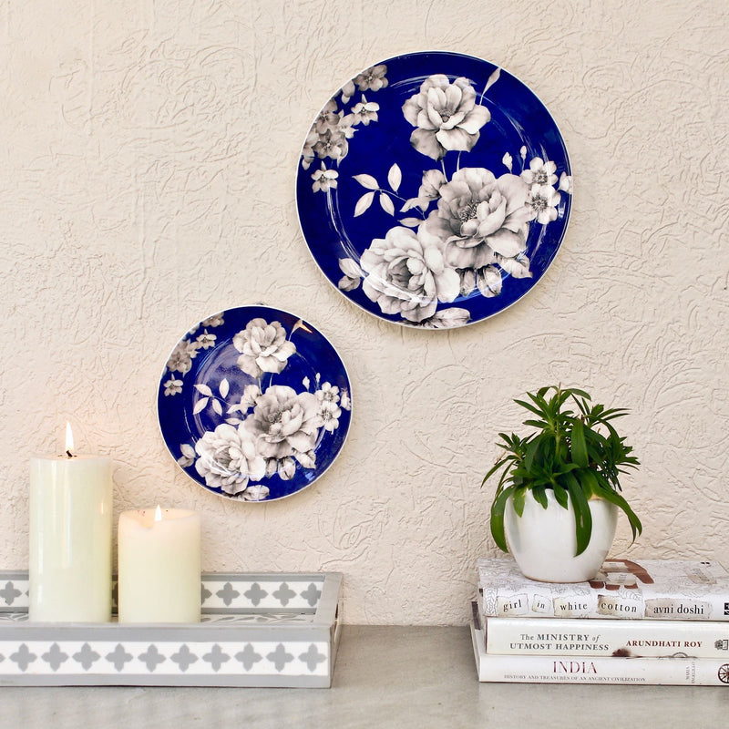 Blue & White Rose Wall Plate