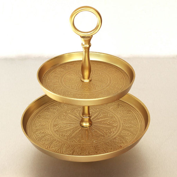 Brass Two Tiered Tray