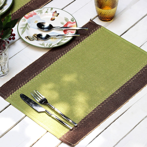 Cambria Green Table Mats - Set of 6