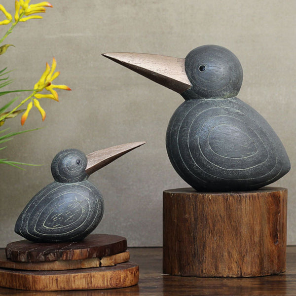 Carved Bird Pair