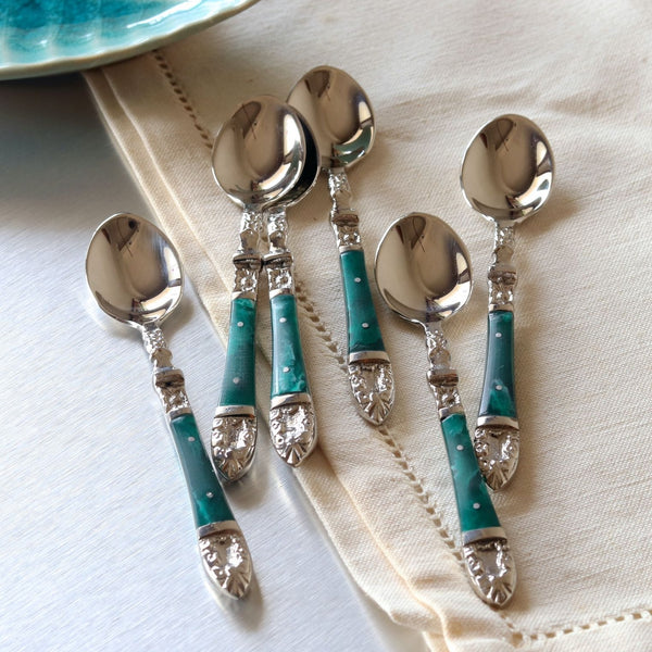 Emerald Coffee Spoons - Set of 6
