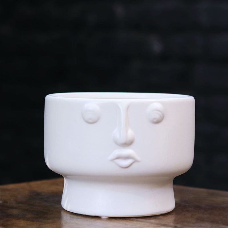 Face Ceramic Pot Wide