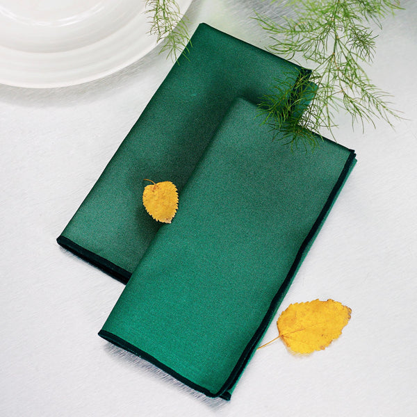 Forest Green Dinner Napkins - Set of 6