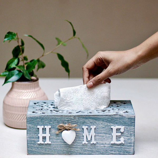 Home Wood Tissue Box