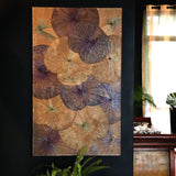 Lotus Leaf Wall Art Blue