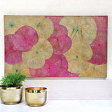 Lotus Leaf Wall Art Pink