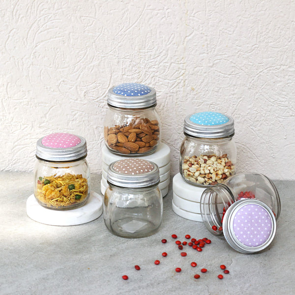 Cute Glass Jars - Set of 5