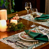 printed cotton table mat with napkins