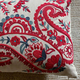 Pink Paisley Sofa Cushion
