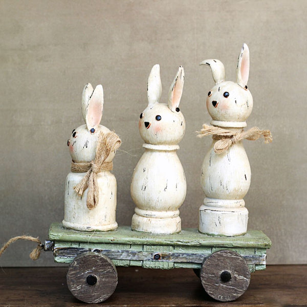 Rabbit Family Showpiece