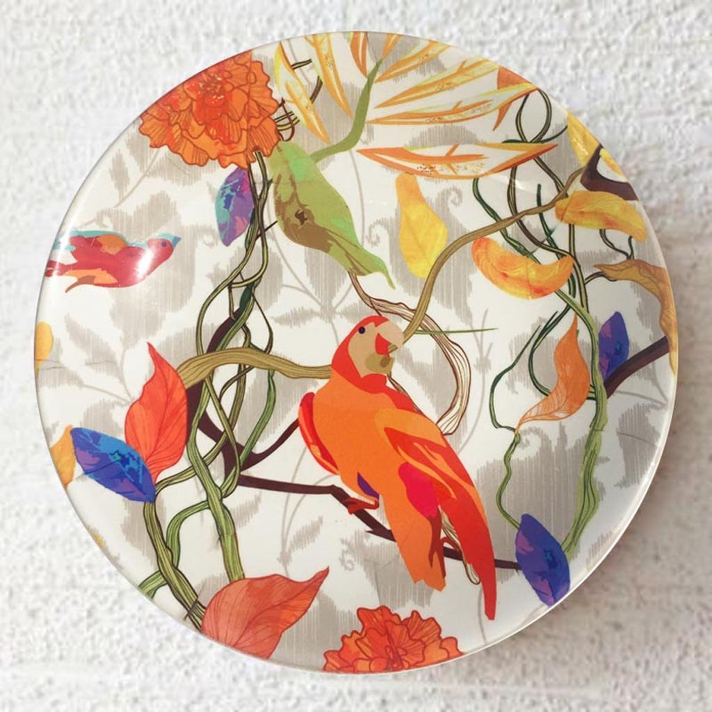 Wall-decorative-plate-parrot