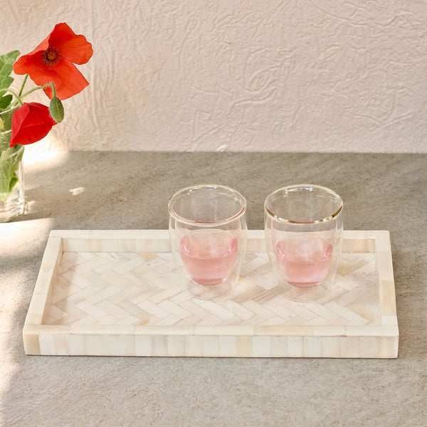 White Inlay Tray