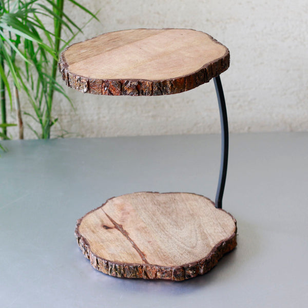 Wood Tiered Stand